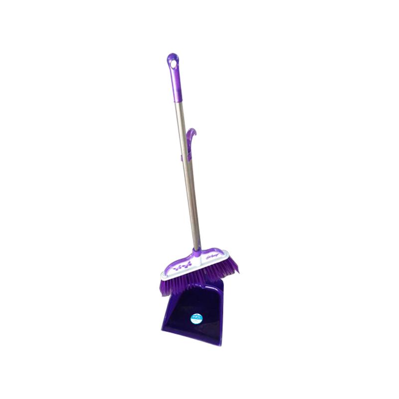 洁满仓 扫把簸箕 套装贴合地面、防风扫斗,刮齿设计。